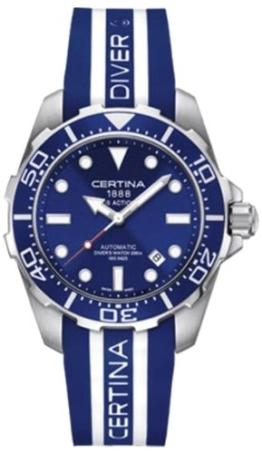 Certina Herren-Armbanduhr XL Analog Automatik Kautschuk C013.407.17.041.00 -