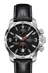 Certina Herren-Armbanduhr XL Chronograph Automatik Leder C001.427.16.057.00 -