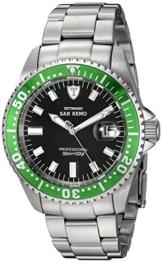 DETOMASO Herren-Armbanduhr Oceanmaster Prof. Green Analog Automatik DT1025-B -