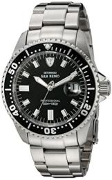 DETOMASO Herren-Armbanduhr Oceanmaster Prof. Black Analog Automatik DT1025-A -