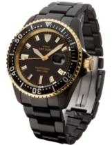 DETOMASO Herren-Armbanduhr San Remo Black Gold Analog Automatik DT1025-F -