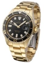 DETOMASO Herren-Armbanduhr San Remo Professional Gold Analog Automatik DT1025-C -