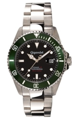 Gigandet Automatik Herren-Armbanduhr Sea Ground Taucheruhr Uhr Datum Analog Edelstahlarmband Schwarz Grün G2-005 -