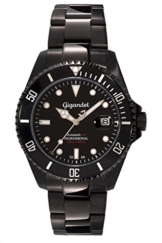 "Gigandet Herren Automatik-Armbanduhr ""Sea Ground"" Analog Edelstahlarmband Schwarz G2-003 -"
