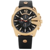 XLORDX Curren XXL Herren Armbanduhr Chronograph Datum Gold Edelstahl Leder Schwarz Quarz Analog Sportuhr -