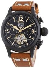 Ingersoll Herren-Armbanduhr XL Bison N0.18 Chronograph Automatik Leder IN4506BBK -