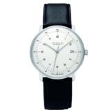 Junghans Herren-Armbanduhr XL Max Bill Automatic Analog Automatik Leder 027/4700.00 -