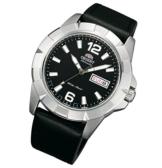 Orient Herrenarmbanduhr Sporty Automatik Tag Datum Lederband Automatikuhr FEM7L006B9 -