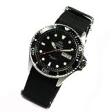 ORIENT Ray II DEEP black Diver Herrenuhr Automatikuhr Taucheruhr Natoband NEW -