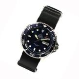 ORIENT Ray II DEEP blue Diver Herrenuhr Automatikuhr Taucheruhr Nato-Lederband -