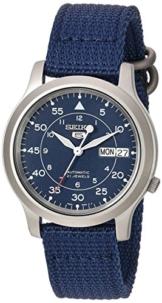 Seiko Herren-Armbanduhr 5 Gent Analog Automatik Textil SNK807K2 -