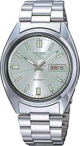 Seiko Herren-Armbanduhr XL Seiko 5 Analog Automatik Edelstahl SNXS73 -