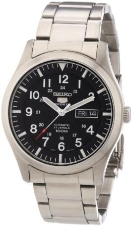 Seiko Herren-Armbanduhr XL Seiko 5 Sports Analog Automatik Edelstahl SNZG13K1 -