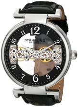 Stuhrling Original 667.01 Herren-Armbanduhr Analog Handaufzug Leder -