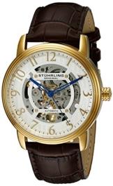 Stuhrling Original 970.02 Herren-Armbanduhr Analog Quarz Leder -