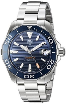 """Tag Heuer """"Männern Aquaracer 'Swiss Edelstahl Automatik Uhr, Farbe: silberfarbene (Modell: way211C. ba0928) -"""
